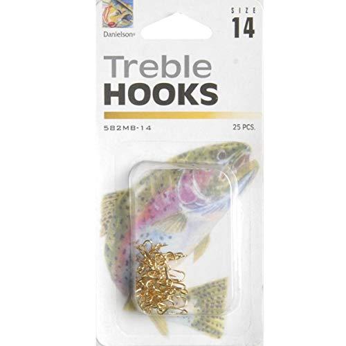 Danielson Hook Treble Mb Gold Sz 14 25-Pk