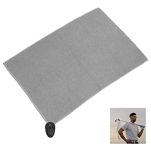 Miouldram Prime - Asciugamano magnetico in microfibra da golf, in microfibra, per sport con palline, magnetico, da golf, in microfibra, colore: oro