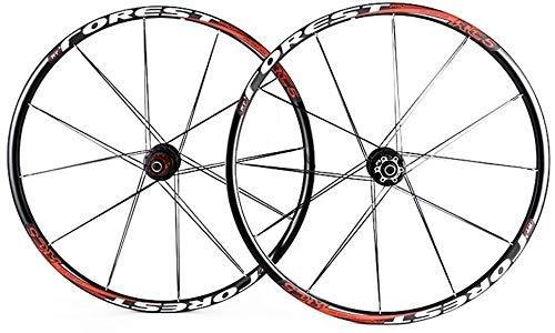 YSHUAI Rueda delantera para bicicleta de montaña MTB 2 trasera, 5 rodamientos sellados, juego de ruedas 26 radios planos de 27,5 pulgadas, color blanco, 27,5 pulgadas