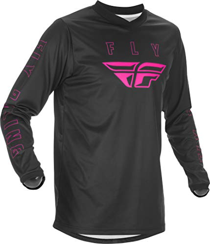 Fly Racing Adult F-16 Motorsports Jersey, Black/Pink