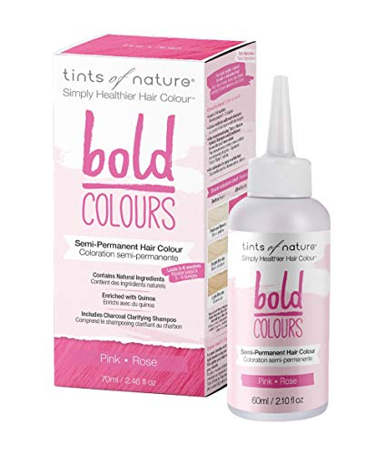 Tints of Nature Bold Pink - Semi Permanent Natural Hair Dye, Single