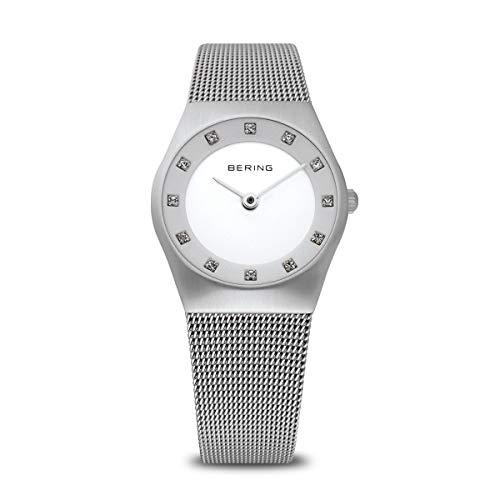 BERING Reloj Analógico Classic Collection para Mujer de Cuarzo con Correa en Acero Inoxidable y Cristal de Zafiro 11927-000