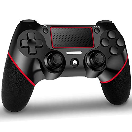 GEEMEE Mando Inalambrico para PS-4, Gamepad Wireless Bluetooth Controlador Joystick con Vibración Doble/Puerto de Audio Remoto/Mandos Inalámbrico