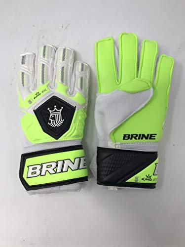 Brine King Match 3X Goalie Gloves (White/Silver/Gold, 4)