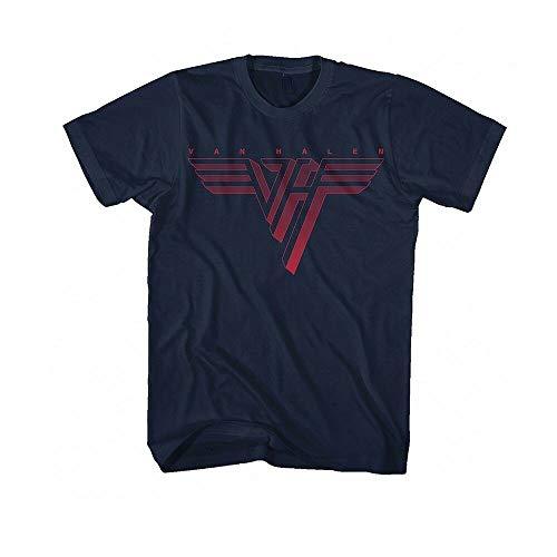 FRIS Van Halen - Red Logo - Men's Blue T Shirt