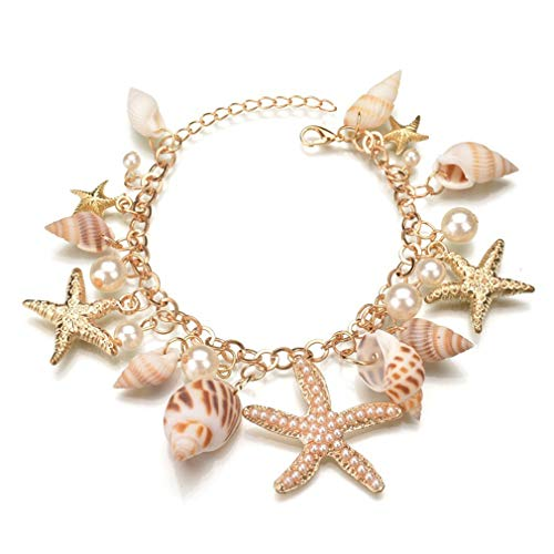 Pinhan Gold Marine Boho Shell Armband Anhänger Hand Dekoration Modeschmuck Zubehör Geburtstag