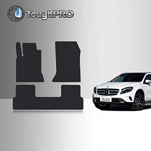 TOUGHPRO Floor Mat Accessories Set (Front Row + 2nd Row) Compatible with Mercedes-Benz GLA180 GLA200 GLA250 GLA45 AMG - (Made in USA) - Black Rubber - 2014, 2015, 2016, 2017, 2018, 2019, 2020