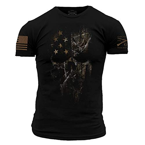 Grunt Style Realtree Edge- American Reaper 2.0 Men's T-Shirt (Black, X-Large)
