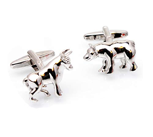 Argento Bull and Bear gemelli Finanza Gemelos Tailor B Animal Borsistiche gemelli 105065–1