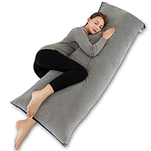 INSEN 55in Body Pillow-Full Body Pillow- Bed Sleeping Pillow-with Removable Body Pillow Cover