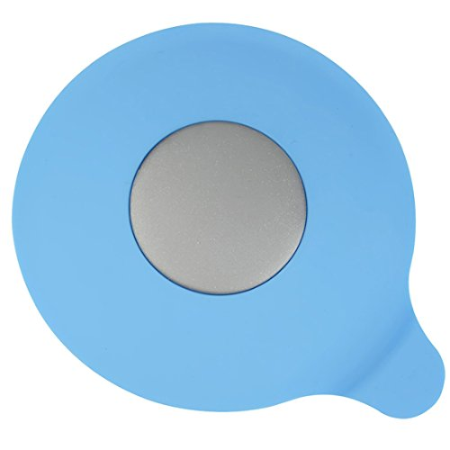 GreeSuit Silikon Badewanne Becken Stopper Gummi Wasserablauf Waschbecken Saug Stecker für Küchen Badezimmer Wäschereien (Blau)