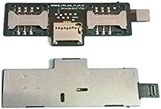 Shockware Dual Sim Memory Card Reader /Holder Slot Connector Flex Cable for Micromax Canvas 2 A110