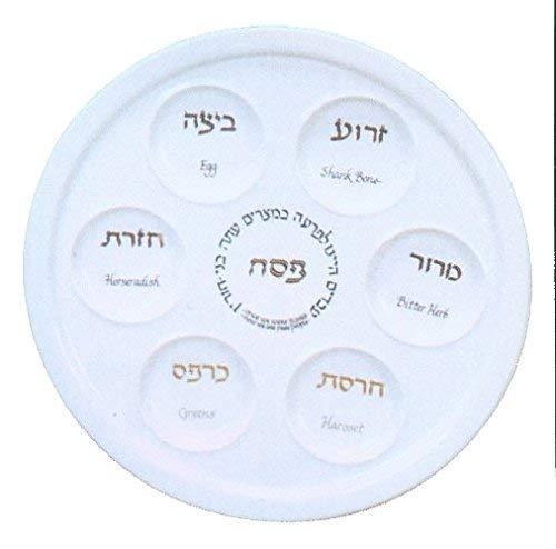 Traditioneller Porzellan-Passover Seder Teller