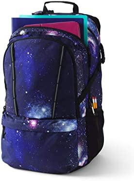 Galaxy print backpack _image3