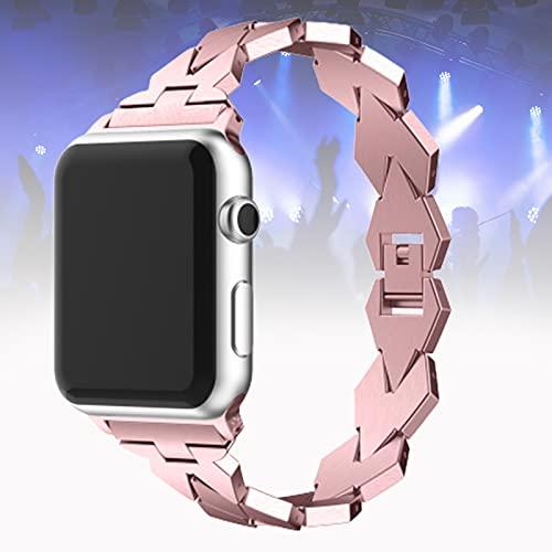Compatible para Apple Watch Correa 40 mm iWatch Correas 38 mm Mujer Correa de Muñeca Pulsera de Metal Pulsera Correa de Repuesto para Apple Watch SE Series 6/5/4/3/2/1,Rose Gold,38mm/40mm
