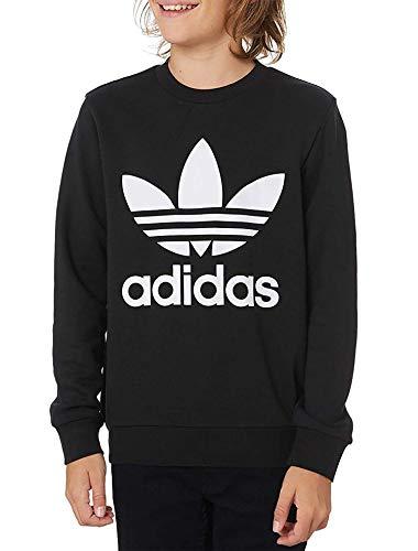 adidas Kinder Sweatshirt Trefoil Crew, Black/White, 1415, ED7797