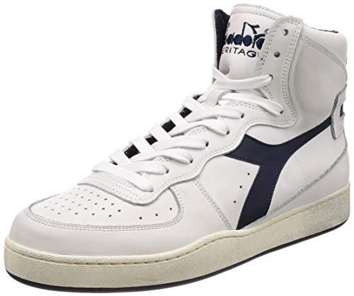 Diadora Heritage Herren High Sneaker Mi Basket Used 158569, Größe:43;Farbe:Weiß