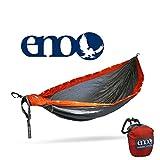ENO - Eagles Nest Outfitters DoubleNest LED Hammock (Orange/Grey)