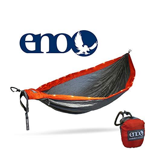 Eno Eagles Nest Outfitters Doppel-Hängematte, LED, Orange/Grau