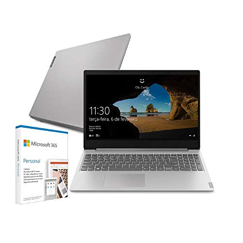 "Notebook Lenovo Ultrafino ideapad S145, Intel Core i3-1005G1, 4GB RAM, 128GB SSD + Microsoft 365 Personal Windows 10 S 15.6"""