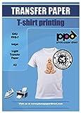PPD Inkjet - A3 x 10 Hojas de Papel de Transferencia Térmica para Camisetas y Tejidos Claros - Fácil de Usar - Para Impresión de Inyección de Tinta - PPD-7-10