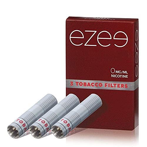 12 Cartuchos Desechable para Ezee Cigarrillo Electrónico Sabor a Tabaco Sin Nicotina y sin Tabaco