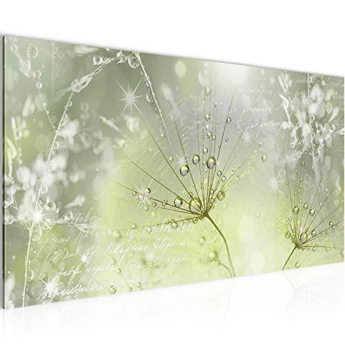 Wandbilder Pusteblume Modern Vlies Leinwand Wohnzimmer Flur Gräser Grün Grau 205612b