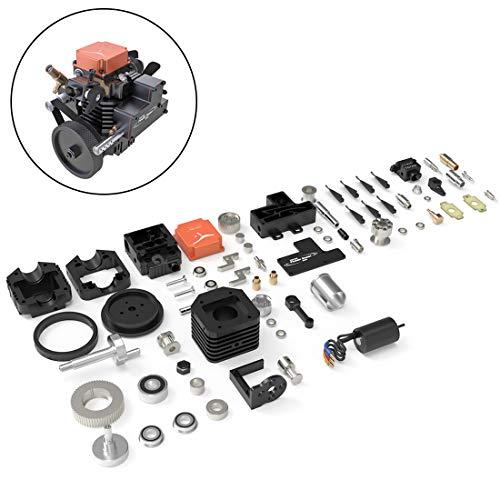POXL 4 Stroke RC Engine, DIY Methanol Motor Toyan FS-S100AC Viertaktmotor Bausatz für 1:10 1:12 1:14 Modellauto Schiff RC Flugzeug