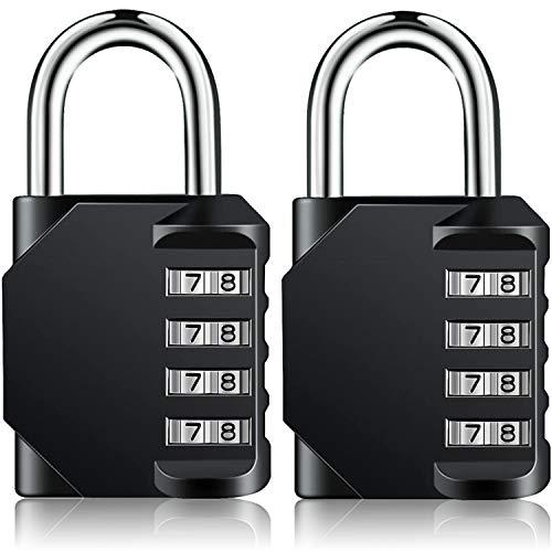 Combination Padlock Heavy Duty Lock BeskooHome Waterproof 4 Digit Combination Lock for School Gym Outdoor Shed Locker 2 Pack