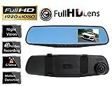 b-creative HD 1080p 7,1cm Dual Lens auto Peugeot 508SW, 807, partner Tepee, RCZ DVR specchietto retrovisore Dash Cam video camera Recorder