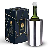 Wine Chiller Bucket-Wine Bottle Cooler, Wine Insulator With Stainless Steel No Ice Bucket Design. Great Wine Accessories, Champagne and Wine Bottle Holder, Gifts For Wine Lovers