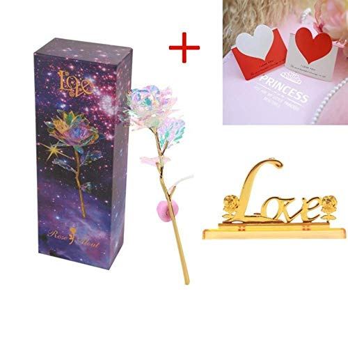 24K folie verguld Rose goud Rose Valentijnsdag geschenk duurt eeuwig liefde bruiloft Decor minnaar verlichting Rose Drop USA Shipping, RL1404B, Verenigde Staten