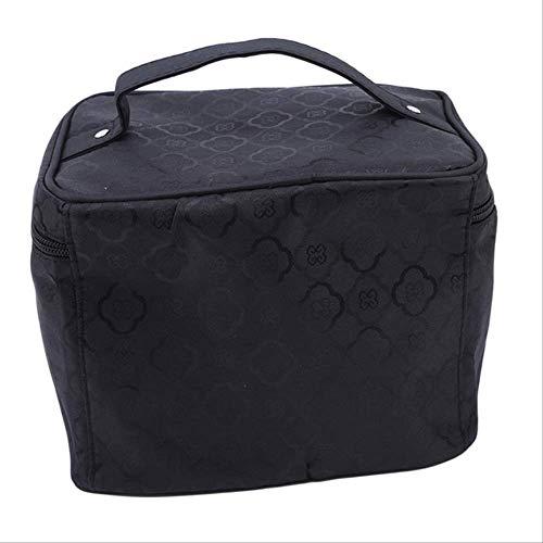 Maquillage Cosmetic Bag Femmes Make Up Bag Étanche Trousse De Toilette Professionnel Wash Organisateur De Voyage Make Up Box Quatre pétales noir