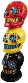 Fantasy Gifts Day of the Dead Stacked Sugar Skulls Mexican Dia De Los Muertos Incense Tower