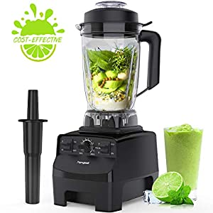 homgeek Blender Smoothie Blender, 1450W High Speed Professional Countertop Blender for Shakes and Smoothies 30000 RPM, Built-in Pulse& 10-speeds Control, 68 Oz Dishwasher Tritan Jar