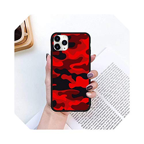 Pattern Camo Soft - Carcasa de silicona para iPhone 11 12 Pro XS Max 8 7 6 6S Plus X 5S SE 2020 XR mini A7-for iPhone12