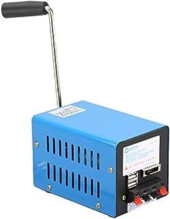 MAQRLT Generadores de manivela de Mano, generador portátil de Emergencia de desastres de Alto Rendimiento de Alta Potencia, Cargador de computadora de teléfono móvil USB