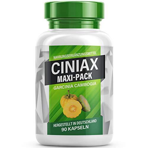 Ciniax [MAXI PACK] - Garcinia Cambogia Kapseln I Für Frauen und Männer - 90 Kapseln pro Dose V2 (1 Dose)