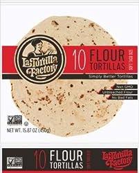 La Tortilla Factory GMO Free Flour Soft Taco Size Tortillas, 10 ct