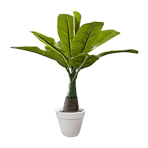 iophi Zimmerpflanze /deko Kunstpflanzen Bananen Baum/künstliche Pflanzen/Dekopflanze Grünpflanze Büropflanze groß grün