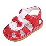 Cuteelf Baby Schuhe Baby Mädchen Sandalen beleuchtete Soft-Soled Prinzessin Schuhe Mädchen Jungen Cartoon Schuhe Sandalen Erste Wanderer Weiche Sohle Schuhe
