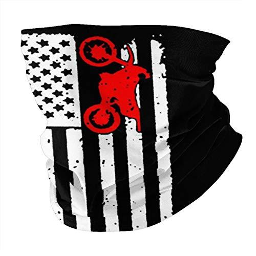 Antokos Usa Bandera Dirtbike Motocross Unisex Reutilizable Ajustable Cara Cubierta Bufanda Protección UV Cuello Pasamontañas Variedad Impreso Bufanda Cabeza