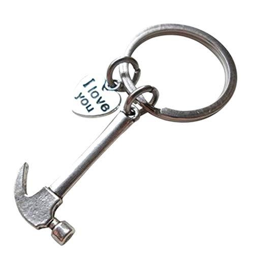 GANGXIA Schlüsselbund1 Stück Nette Mini Werkzeug Zangen Schraubendreher Bremssattel Hammer Stil Schraubenschlüssel Schlüsselanhänger Ring Schlüsselanhänger,2