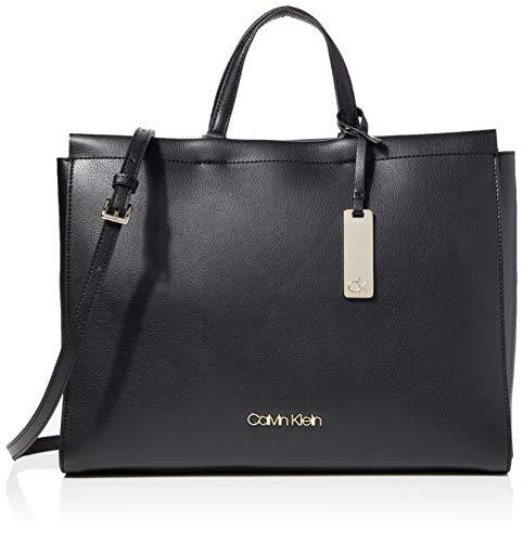 Calvin Klein Enfold Tote - Borse a tracolla Donna, Nero (Black), 1x1x1...