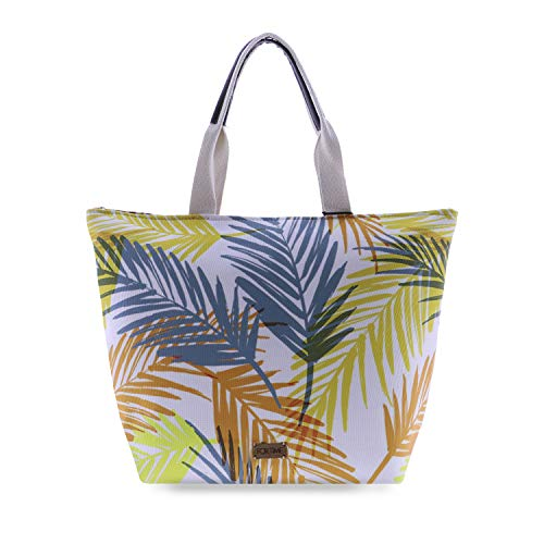 For Time Tree Bay, Bolso Playa para Mujer, Naranja, 24x1x20