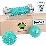 JON BERG - Set de masaje para pies (3 piezas, incluye rodillo de masaje de pies, bolas de masaje y bola de erizo, ideal para relajación y reducción del estrés)