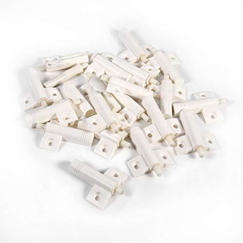 Aukson Türstopper, 20 Stück/Lot Küchenschrank Türstopper Schublade Soft Quiet Close für Kleiderschrank, Wohnmöbel(White)