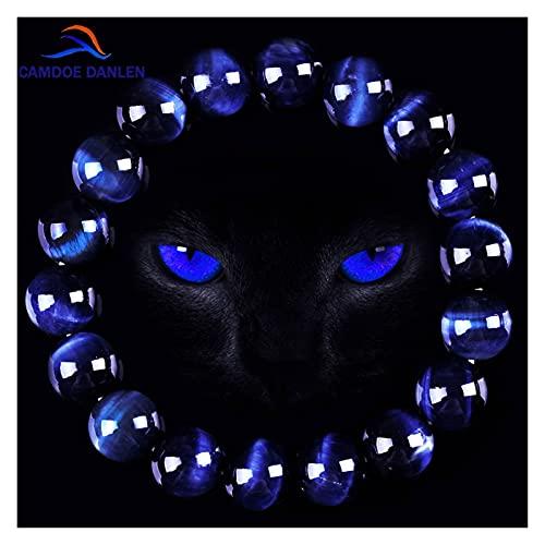 Moda aaa azul tigre ojo buddha pulseras hombres piedra natural perlas redondo elasticidad cuerda hombres mujeres encanto pulsera pavimento fuera del mal espíritu dinero dinero dibujo riqueza Fortuna