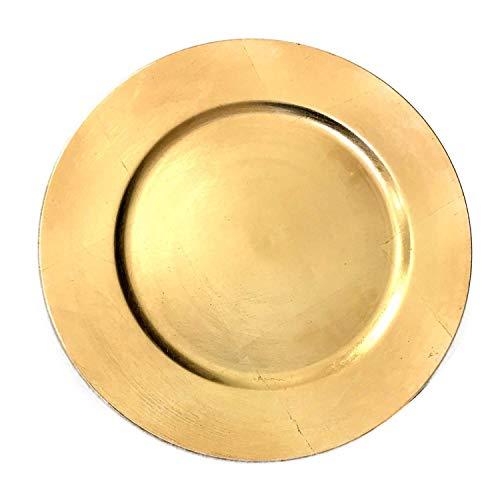 Dekowelten Platzteller Dekoteller Event Teller Unterteller Gold - farbend 33cm Kunststoff
