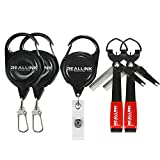 Fishing Equipment Quick Knot Tying Tool and Zinger Retractors 5 in 1 Combo for Fly Fishing Tools Kit Supplies and Accessories Durable 420 Stainless Steel Lanyard Come with Zinger Retractor
